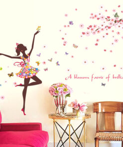Fairy and Butterfly Wall Sticker