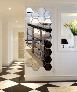 Hexagon Mirror Wall Stickers