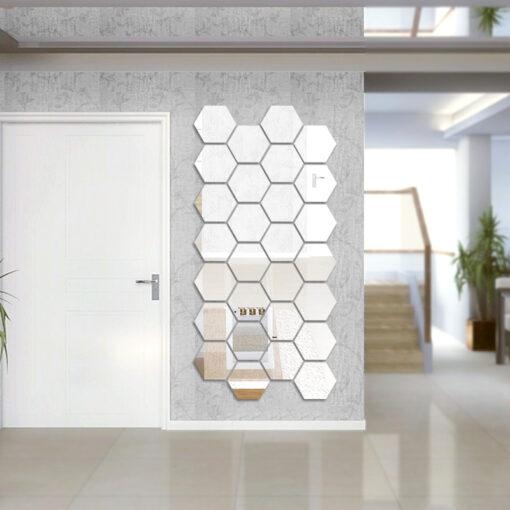 Hexagonal Mirror Stickers