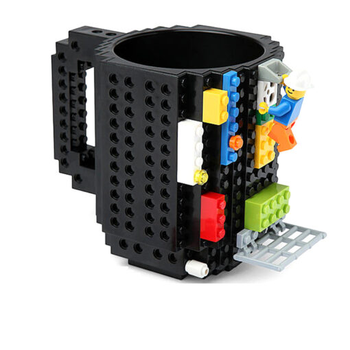 Black Building Block Mug