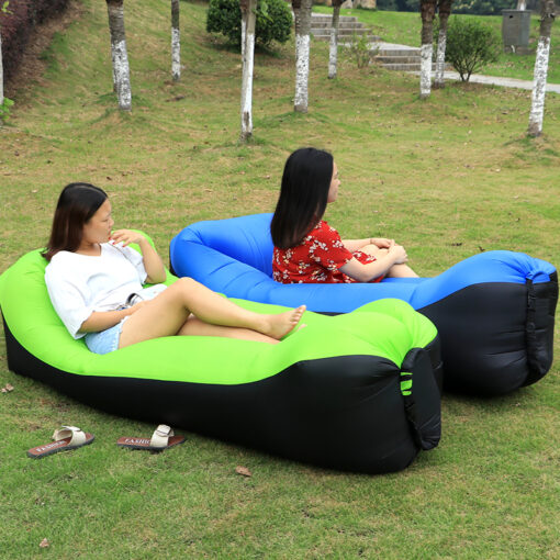 Blue and Green Inflatable Air Sofas
