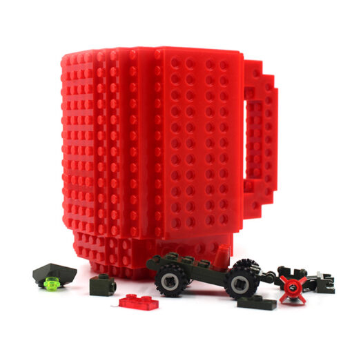 Red Building Block Mug