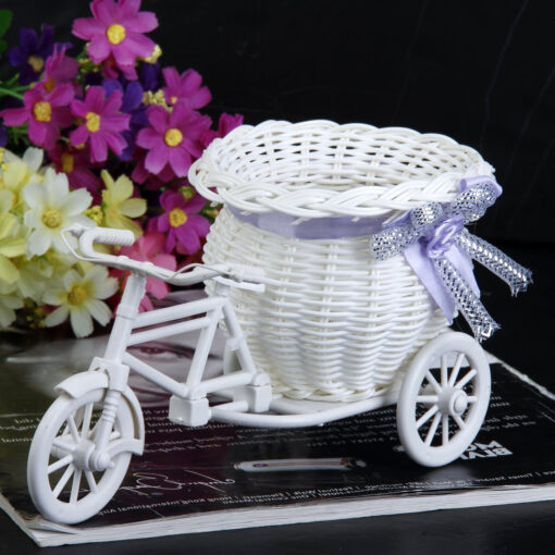 White Tricycle Desk Basket
