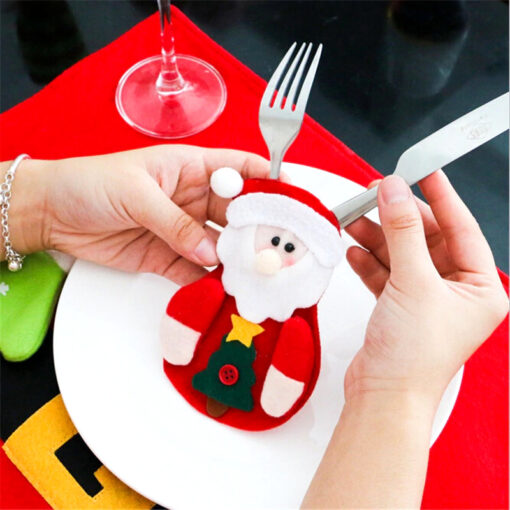 Santa Claus Cutlery Holder