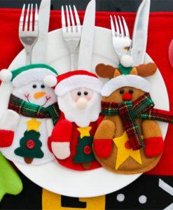 Santa Rudolph Snowman Cutlery Holders